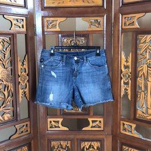 Rock & Republic Ripped Denim Shorts Size 8